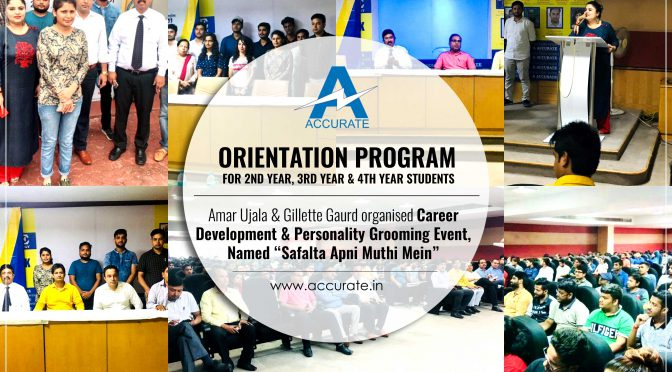 Orientation Program for B.Tech 2nd Year, 3rd Year & 4th year Students