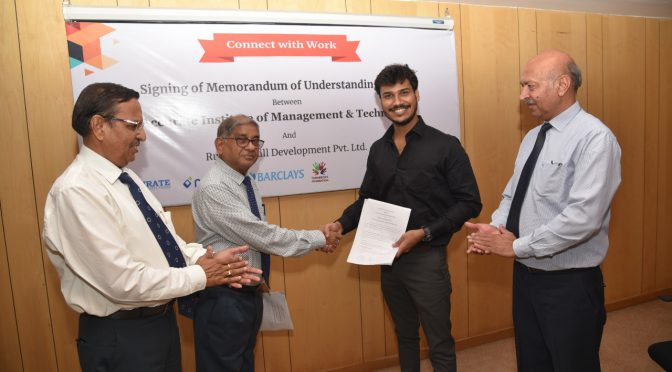 AIMT signed a MOU with Rubicon Skill Development Pvt. Ltd.