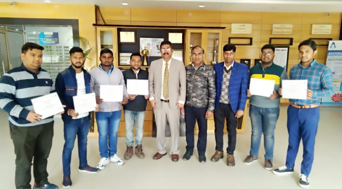 B.Tech Students Completed The Certification Course on Computer System Security