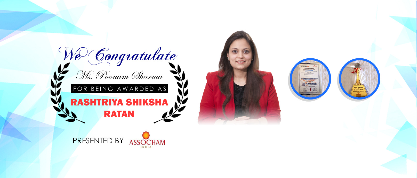 Award Mrs. Poonam Sharma